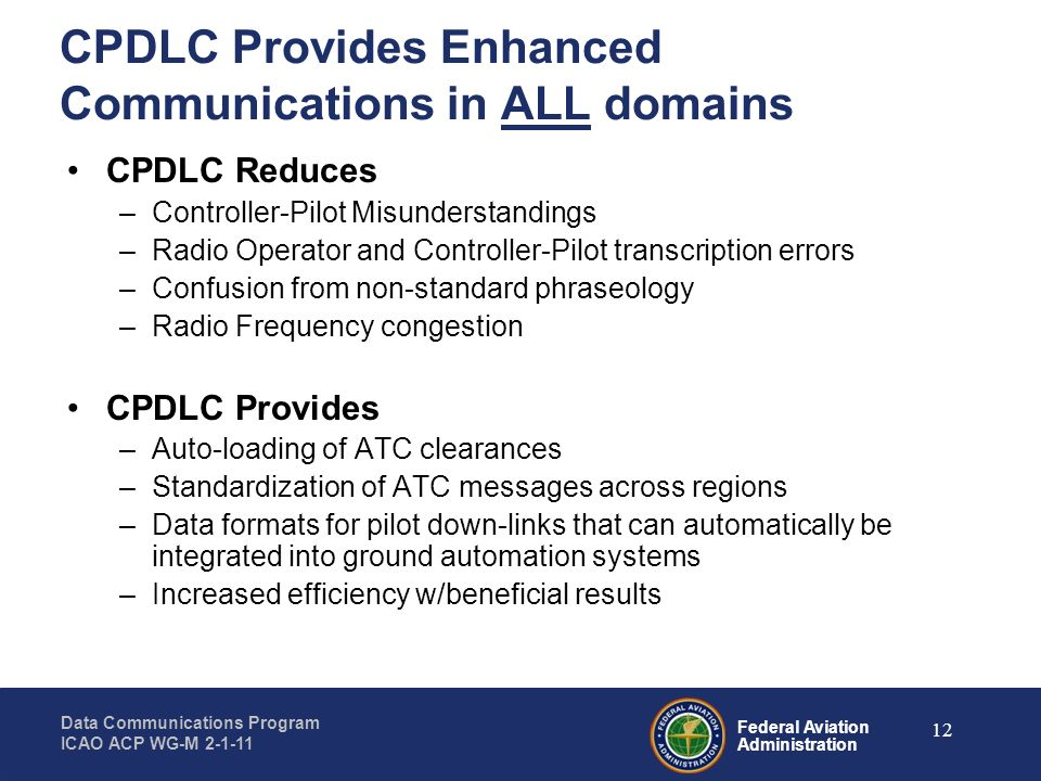 CPDLC Provides Enhanced Communications in ALL domains