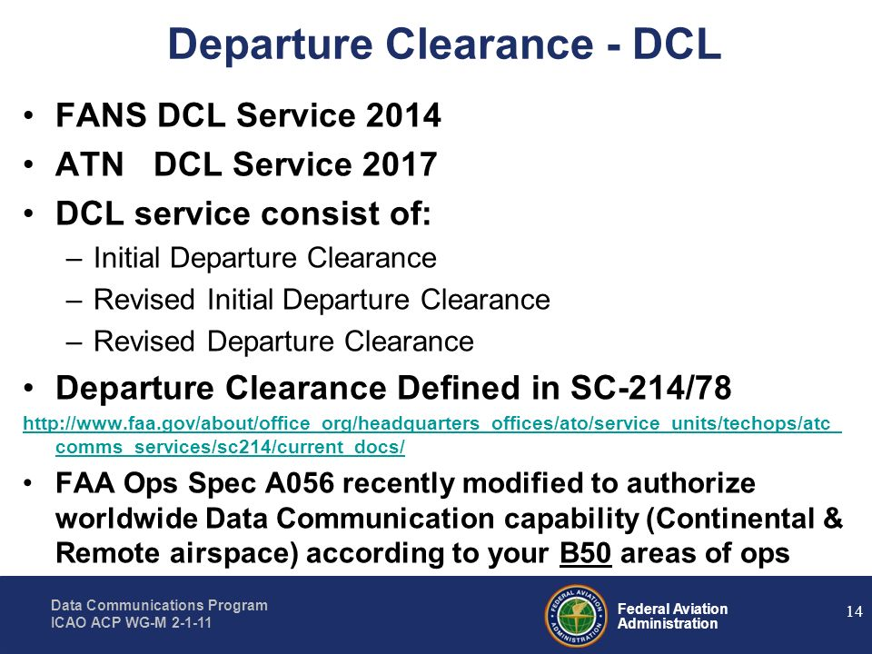 Departure Clearance - DCL