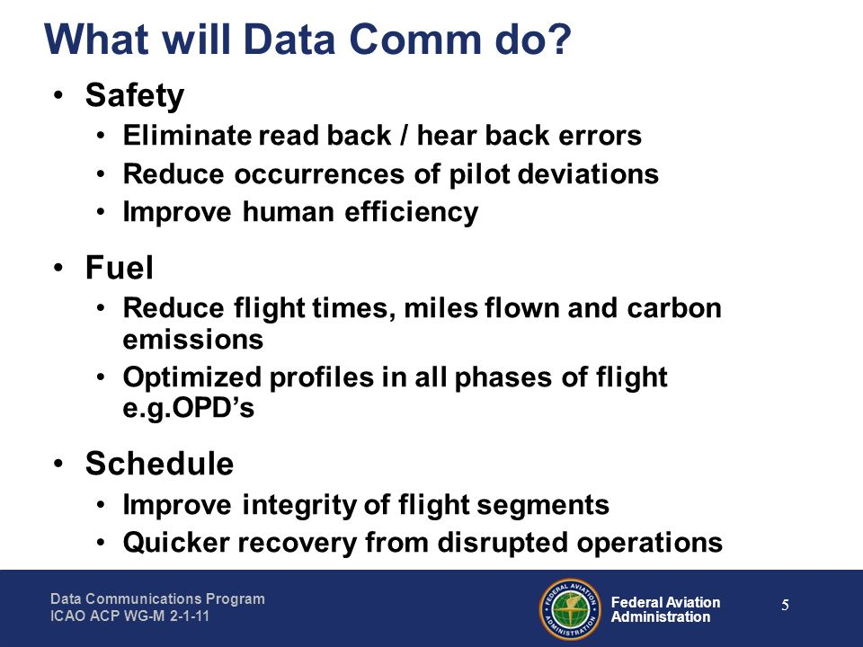 What will Data Comm do Safety Fuel Schedule