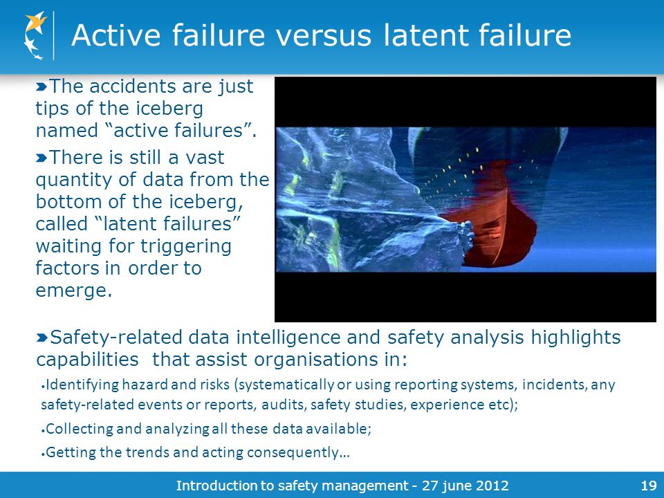 Active failure versus latent failure