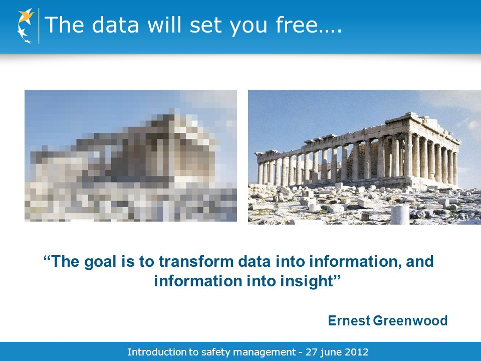 The data will set you free….