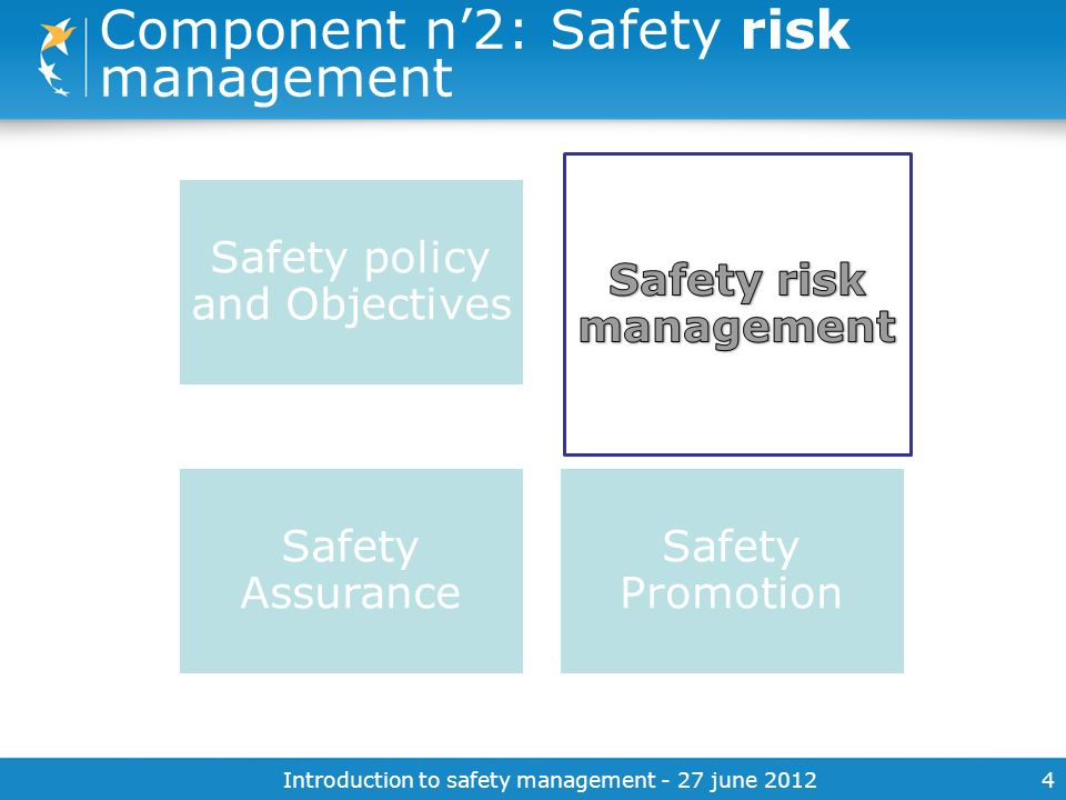 Component n'2: Safety risk management
