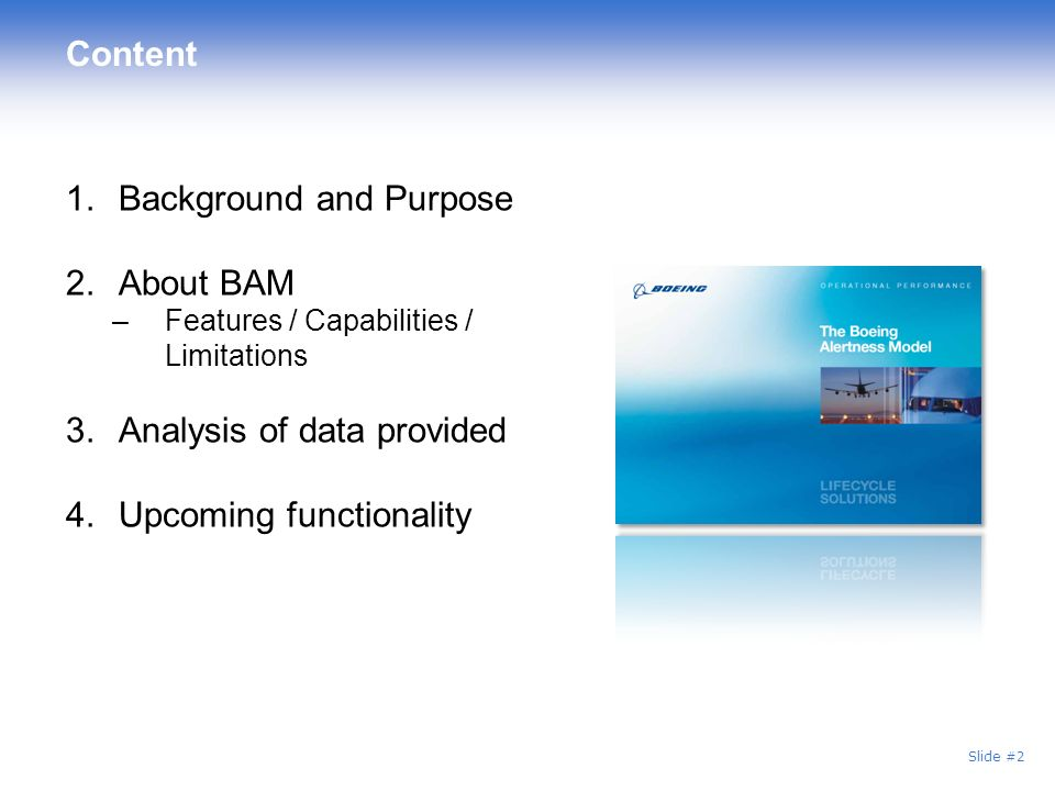 Background and Purpose About BAM
