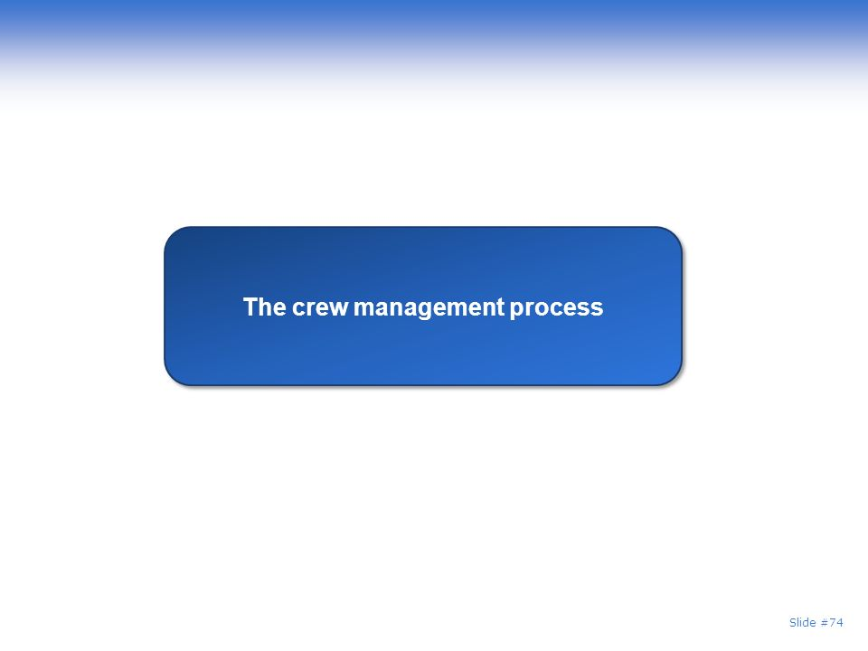 The crew management process