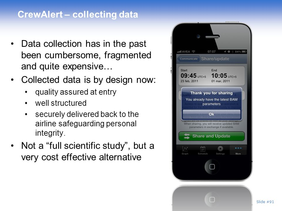 CrewAlert – collecting data