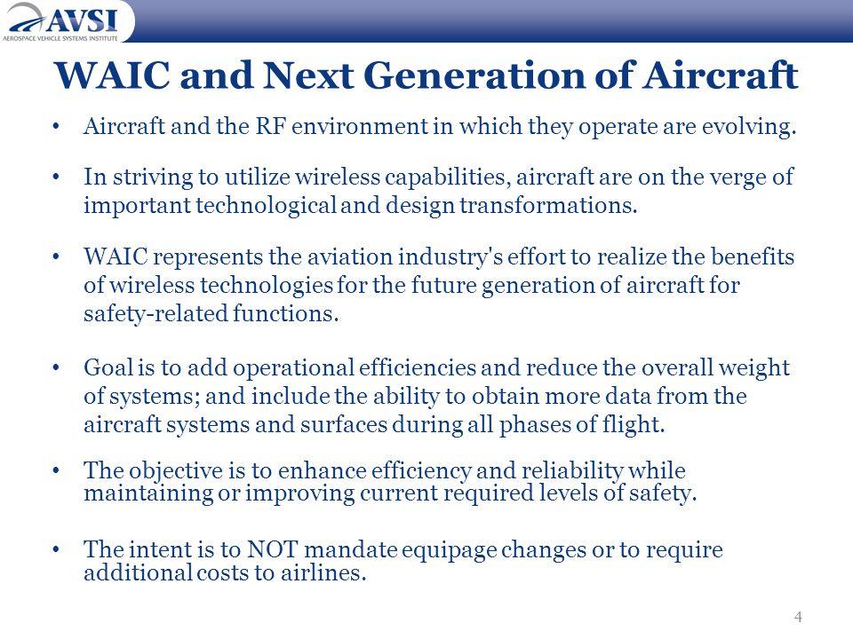 WAIC and Next Generation of Aircraft