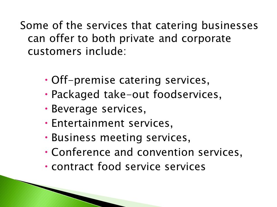 Styles Of Catering Operations  Ppt Video Online Download