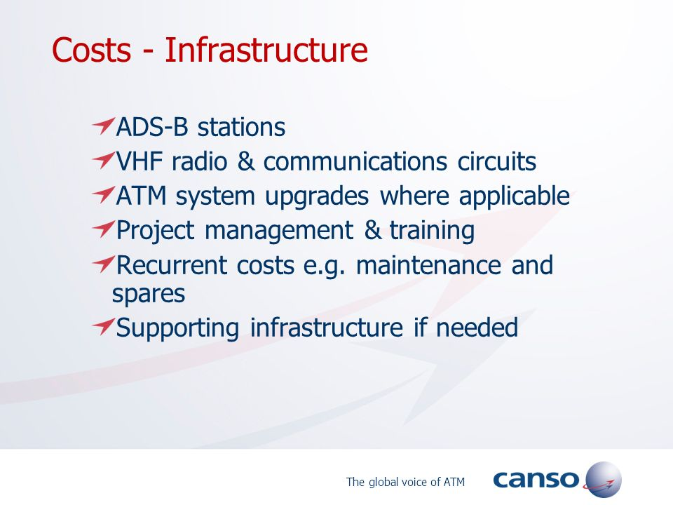 Costs - Infrastructure