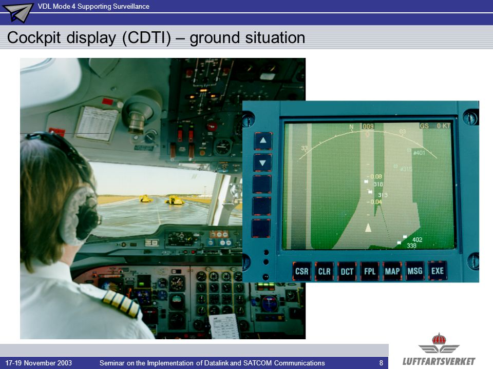 Cockpit display (CDTI) – ground situation
