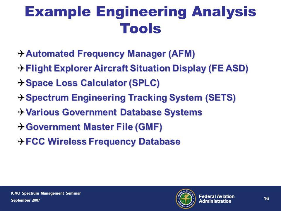 Example Engineering Analysis Tools