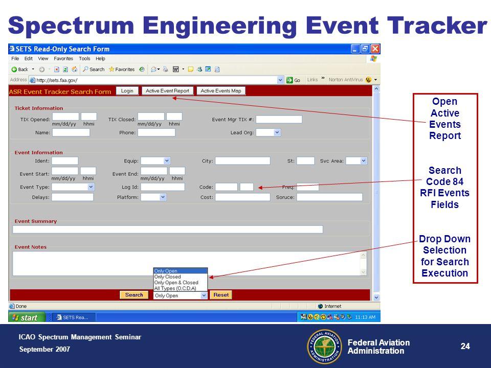 Spectrum Engineering Event Tracker