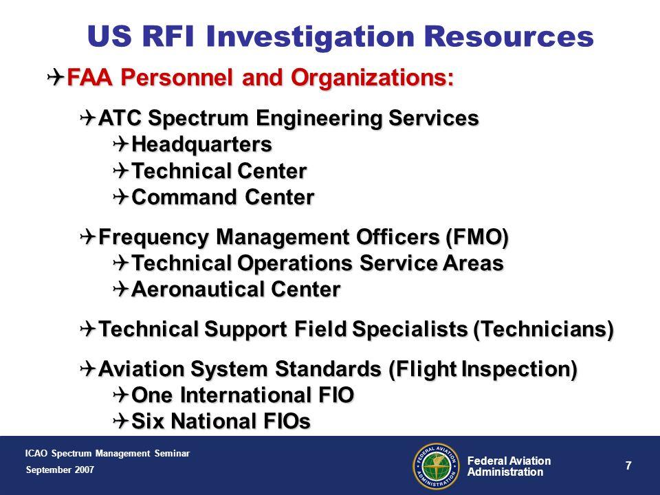 US RFI Investigation Resources