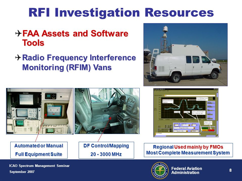 Regional Used mainly by FMOs Most Complete Measurement System