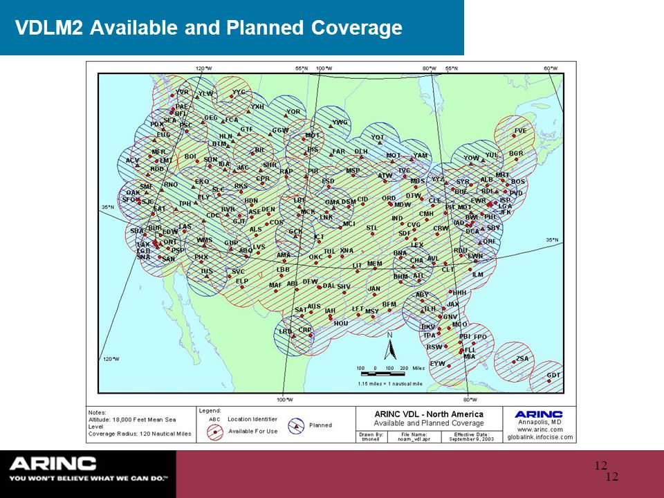 VDLM2 Available and Planned Coverage