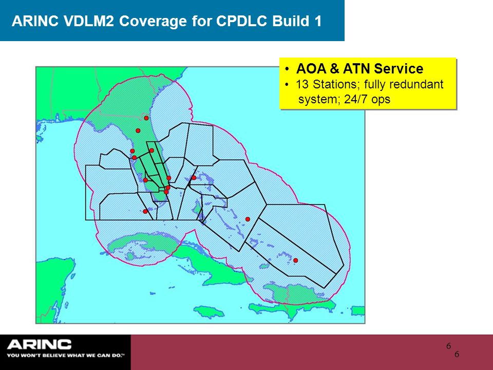 ARINC VDLM2 Coverage for CPDLC Build 1