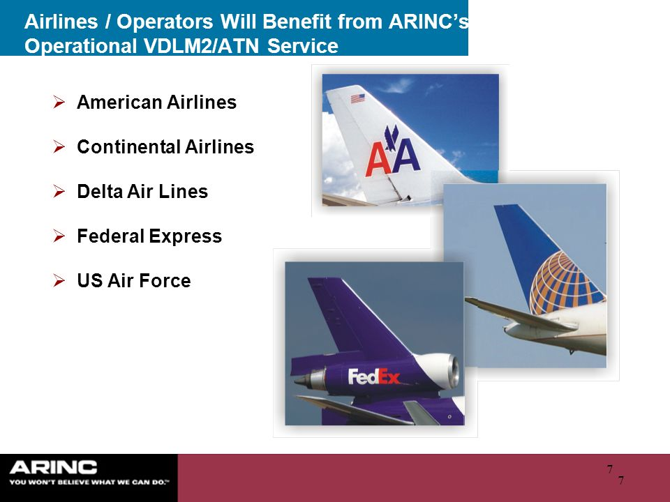 Airlines / Operators Will Benefit from ARINC's Operational VDLM2/ATN Service