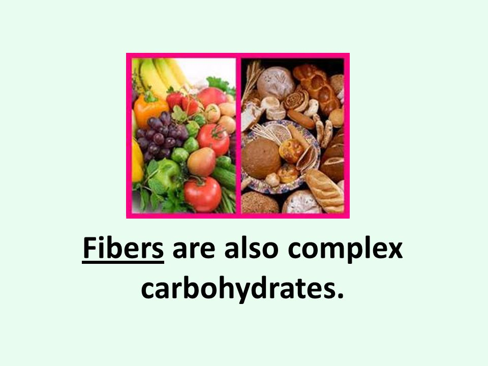 complex carbohydrates Carbohydrates or 'carbs' are an energy source in food that comes from starch, sugar and cellulose carbohydrates provide vitamins, minerals.