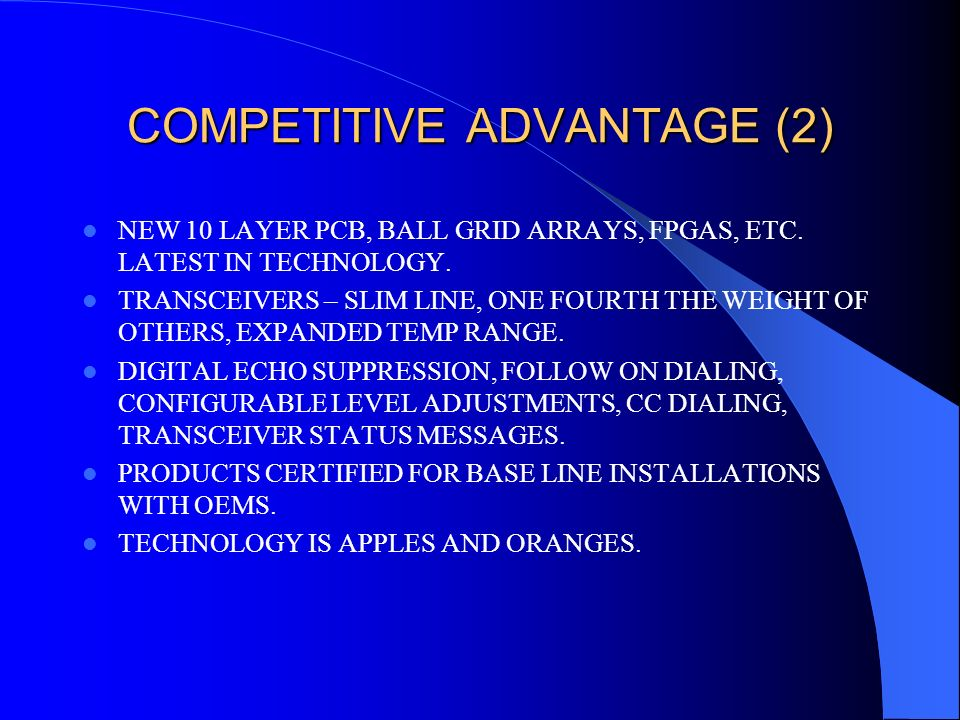 COMPETITIVE ADVANTAGE (2)