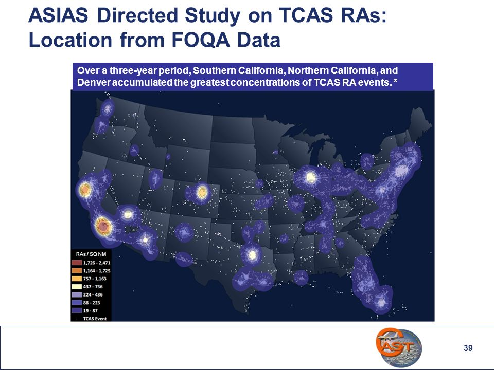 ASIAS Directed Study on TCAS RAs: Location from FOQA Data