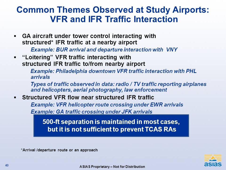 Common Themes Observed at Study Airports: VFR and IFR Traffic Interaction