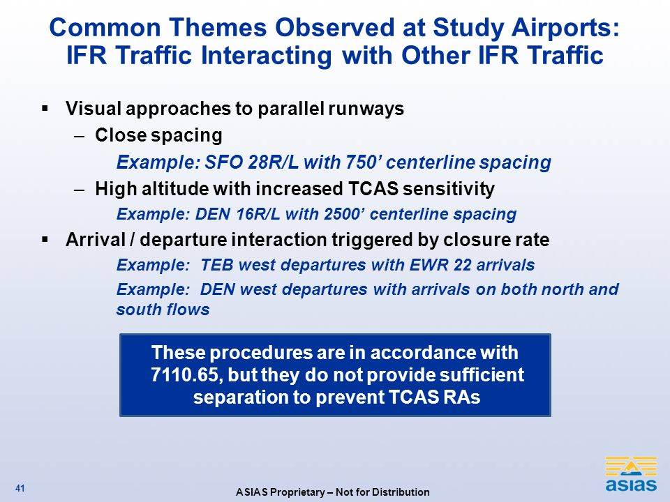 Common Themes Observed at Study Airports: IFR Traffic Interacting with Other IFR Traffic