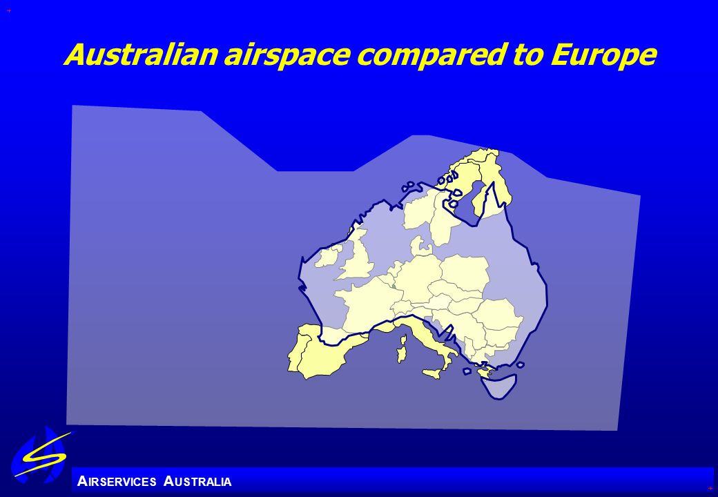 Australian airspace compared to Europe