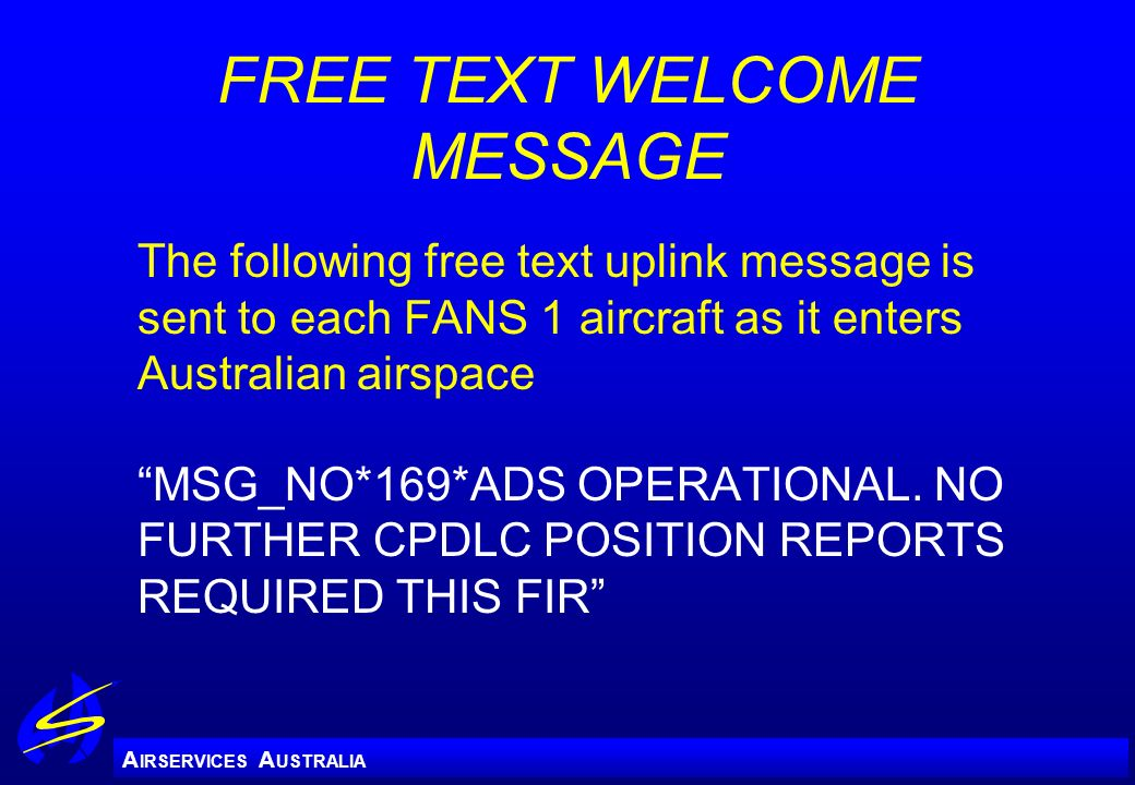 FREE TEXT WELCOME MESSAGE