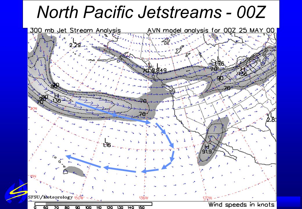 North Pacific Jetstreams - 00Z