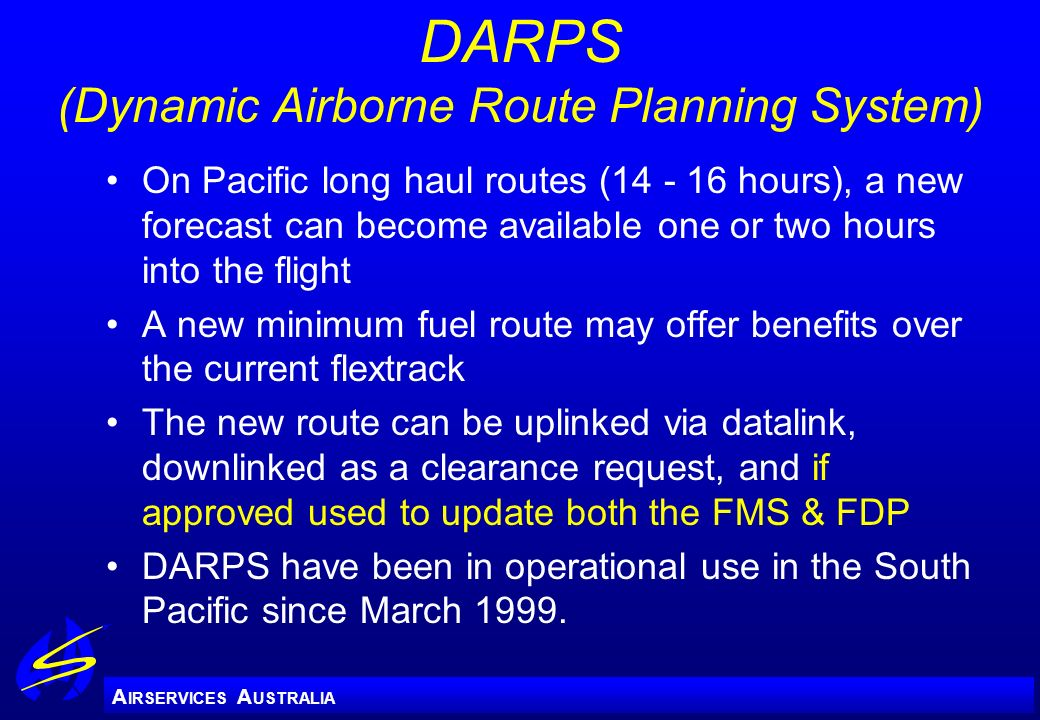 DARPS (Dynamic Airborne Route Planning System)