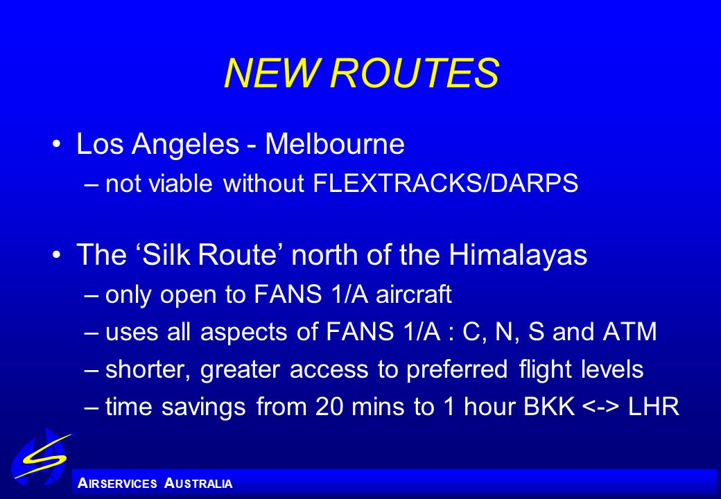 NEW ROUTES Los Angeles - Melbourne