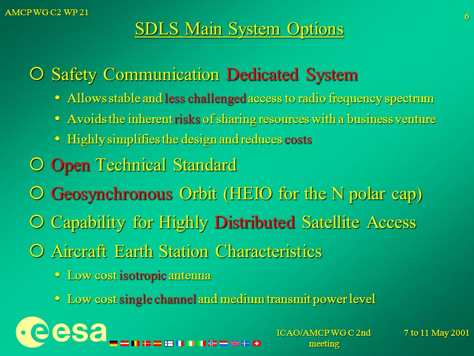 SDLS Main System Options