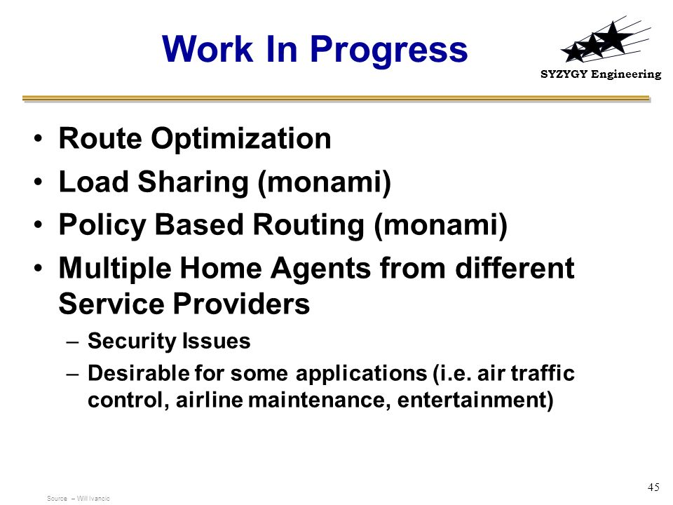 Work In Progress Route Optimization Load Sharing (monami)