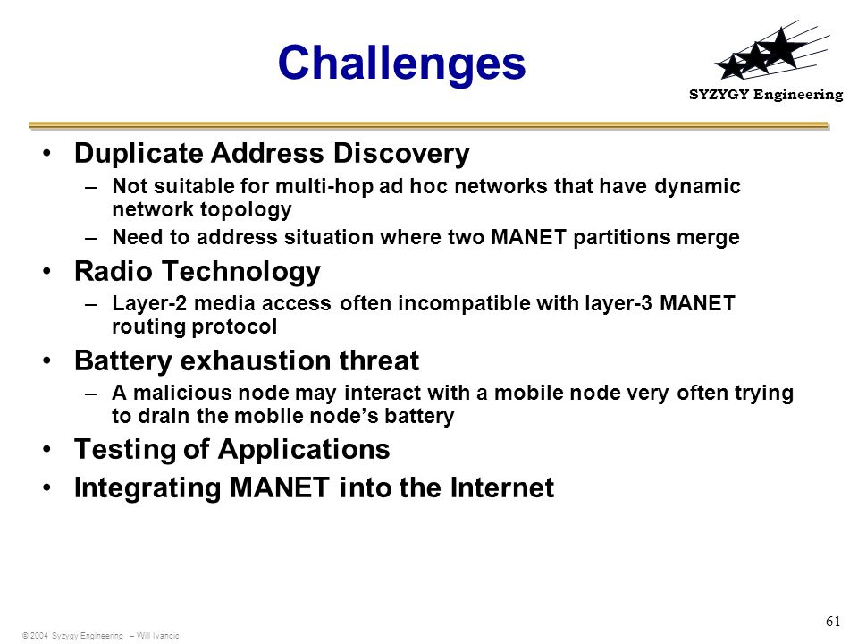 Challenges Duplicate Address Discovery Radio Technology