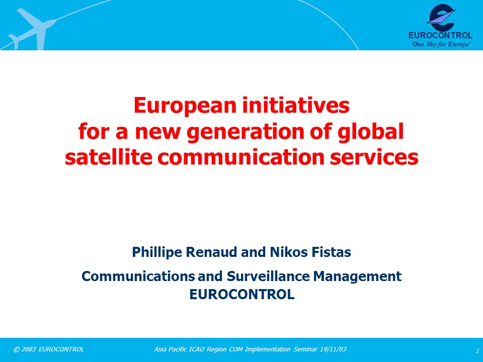 European initiatives for a new generation of global satellite communication services