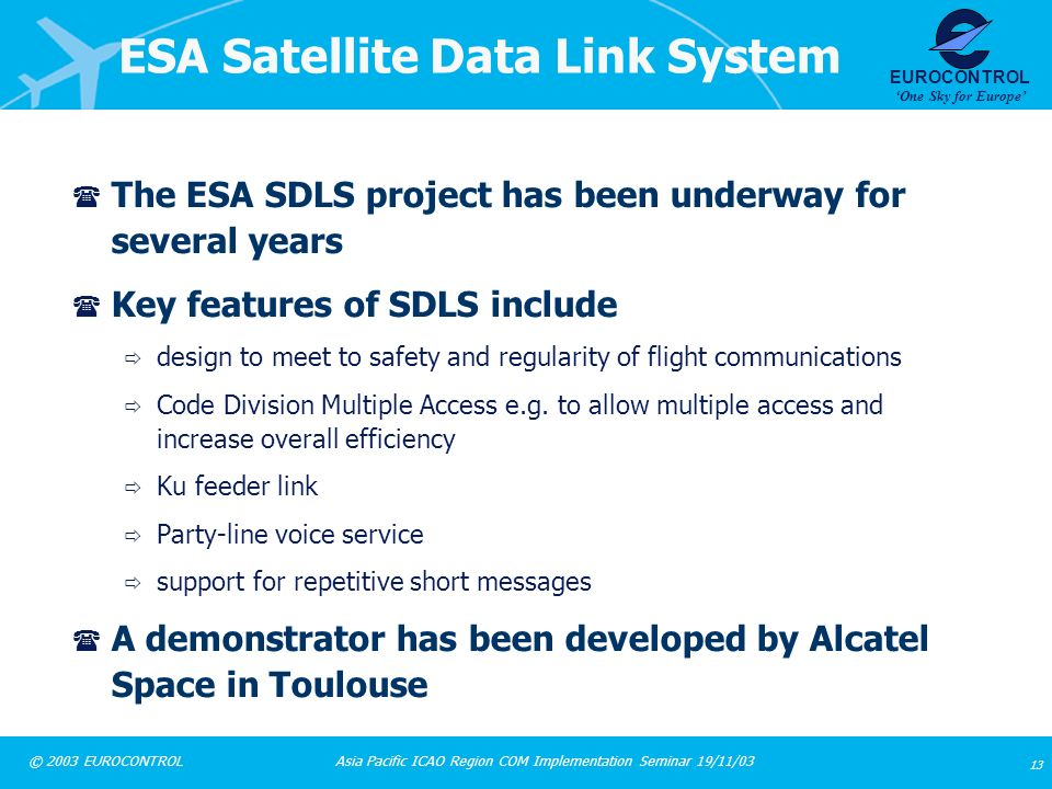 ESA Satellite Data Link System