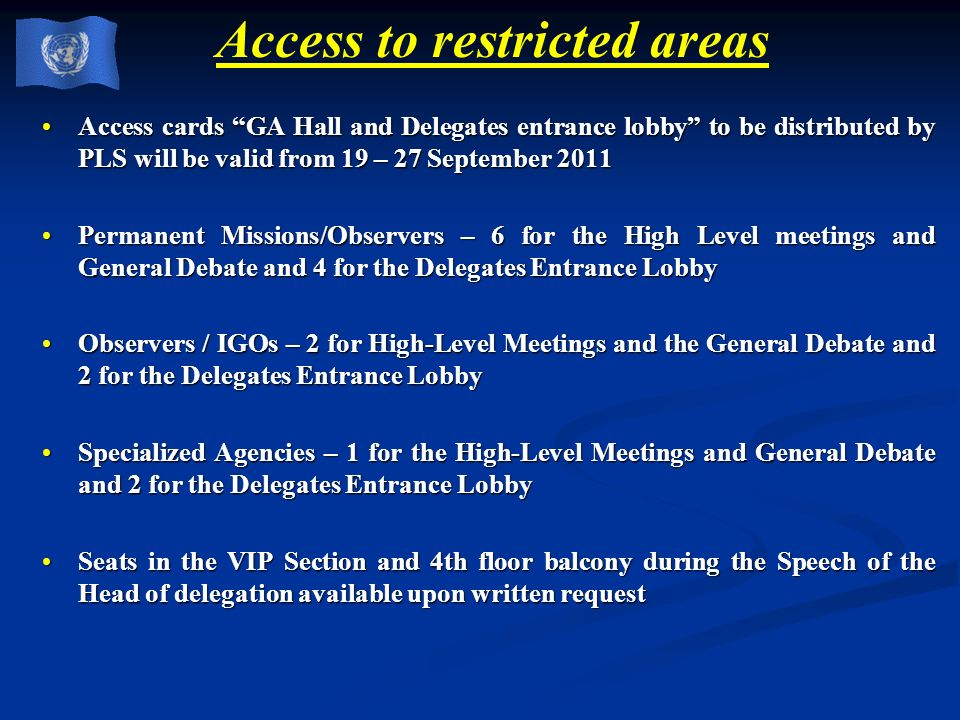 Access to restricted areas