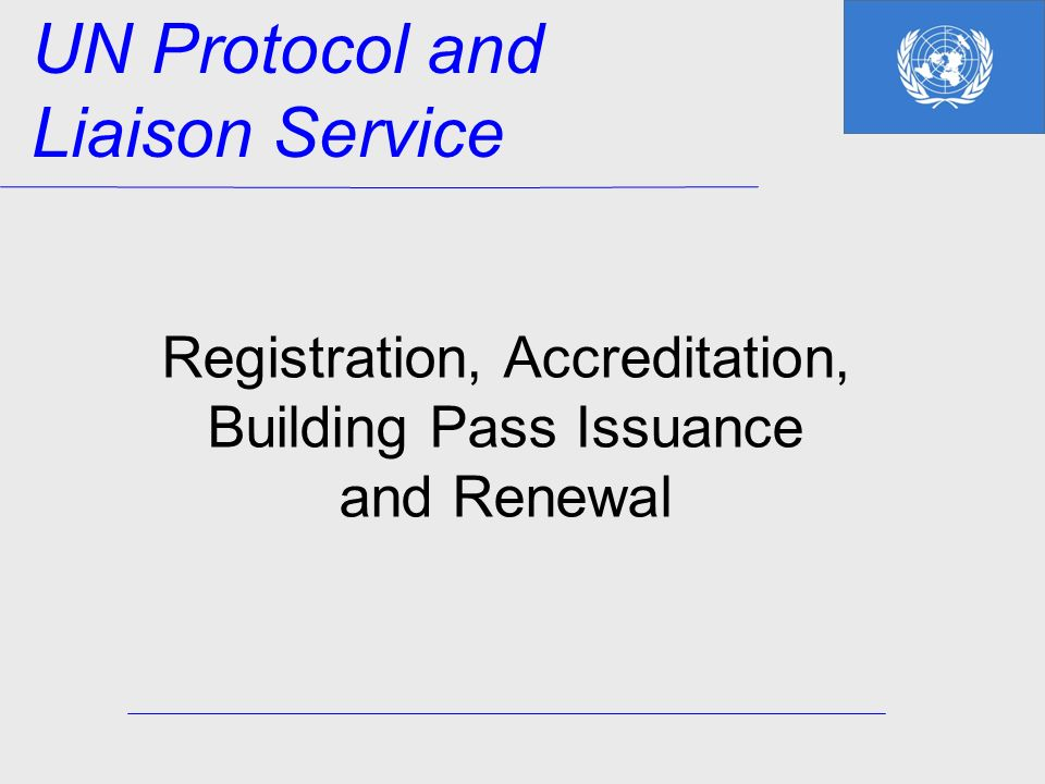 Registration, Accreditation, Building Pass Issuance and Renewal