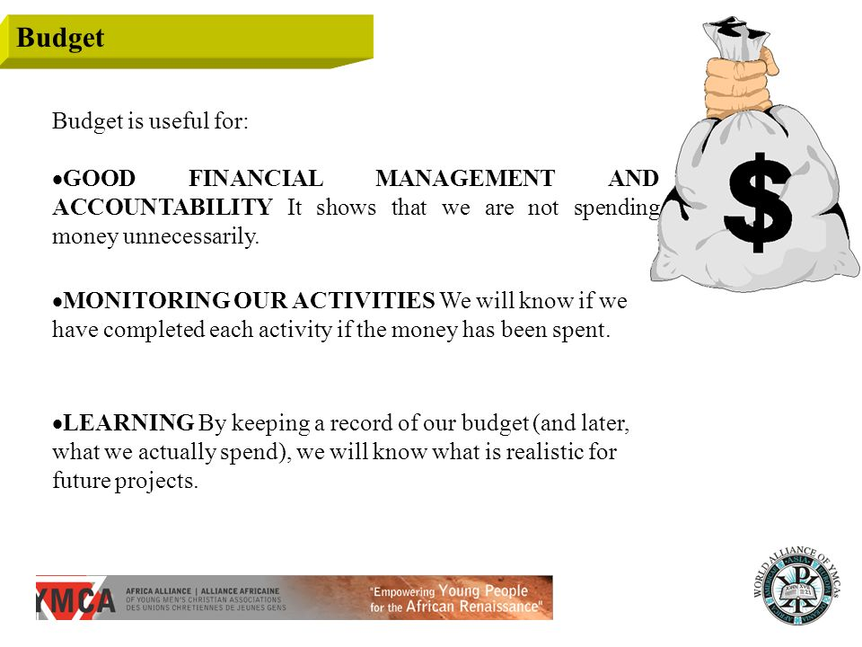 Budget Budget is useful for: