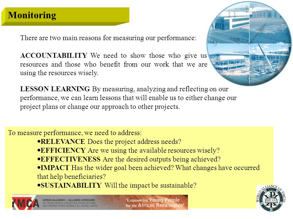 Monitoring There are two main reasons for measuring our performance: