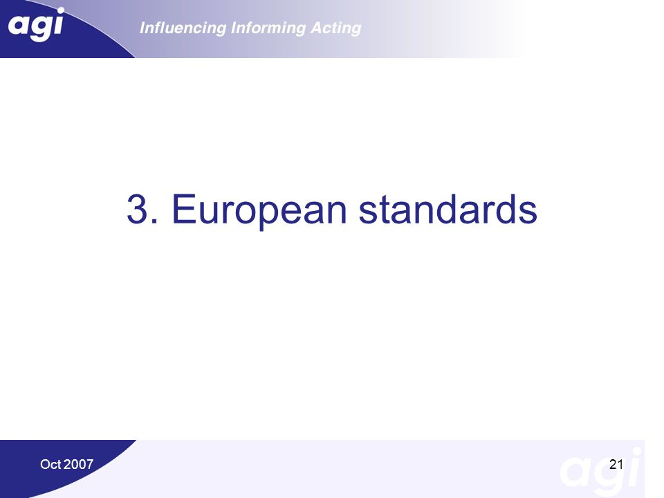 3. European standards Oct 2007