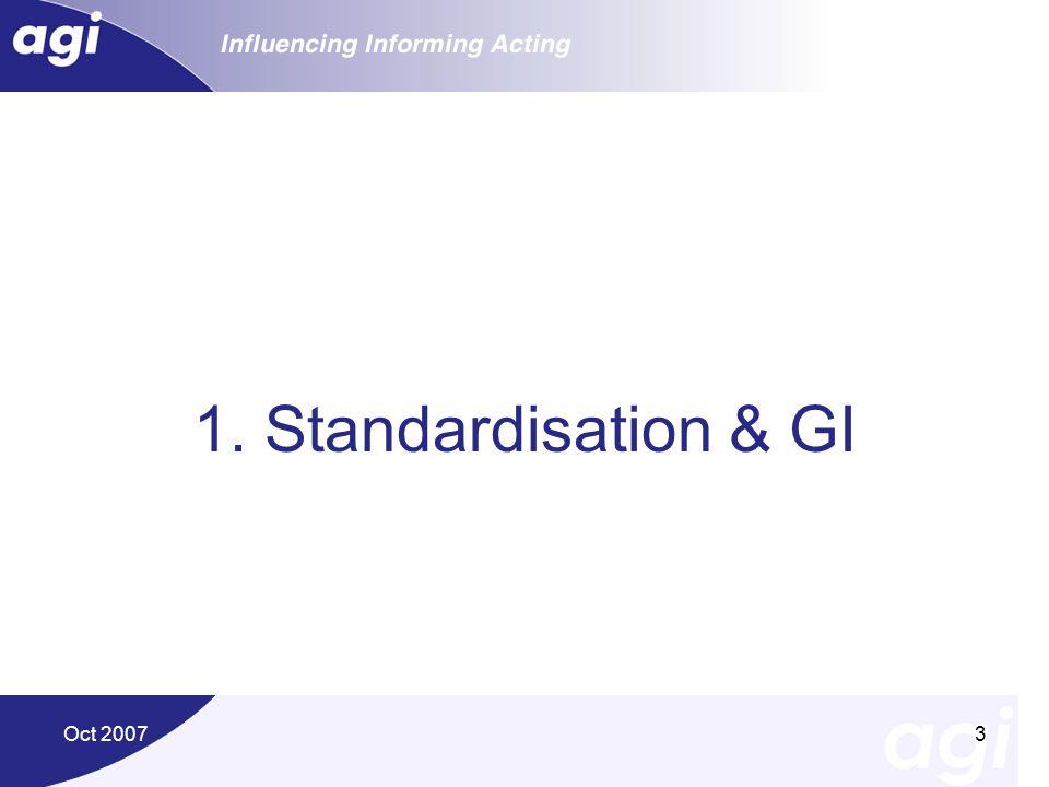 1. Standardisation & GI Oct 2007