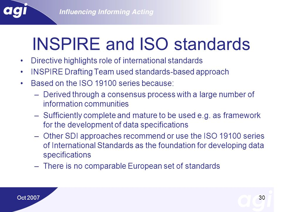 INSPIRE and ISO standards