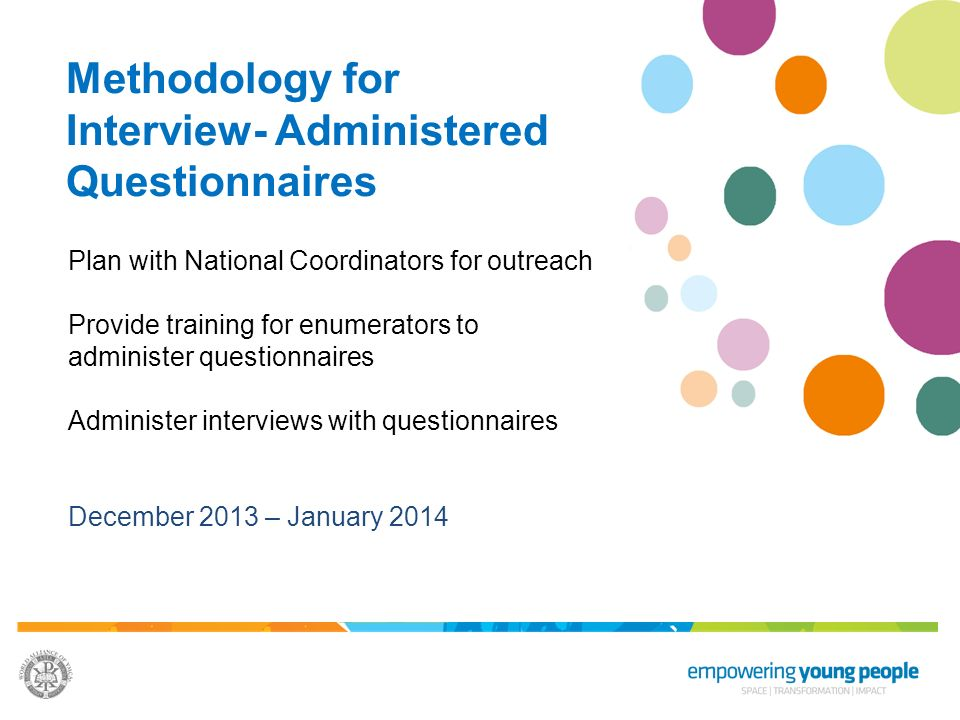 Methodology for Interview- Administered Questionnaires