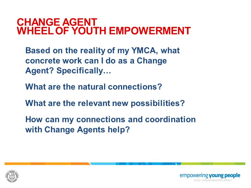 CHANGE AGENT WHEEL OF YOUTH EMPOWERMENT
