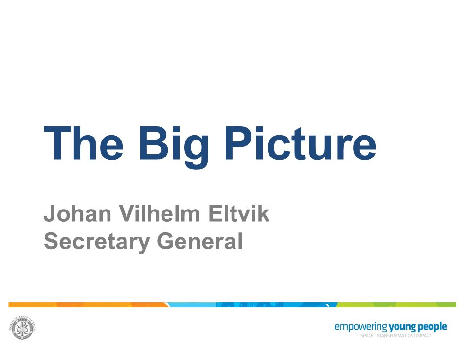 The Big Picture Johan Vilhelm Eltvik Secretary General