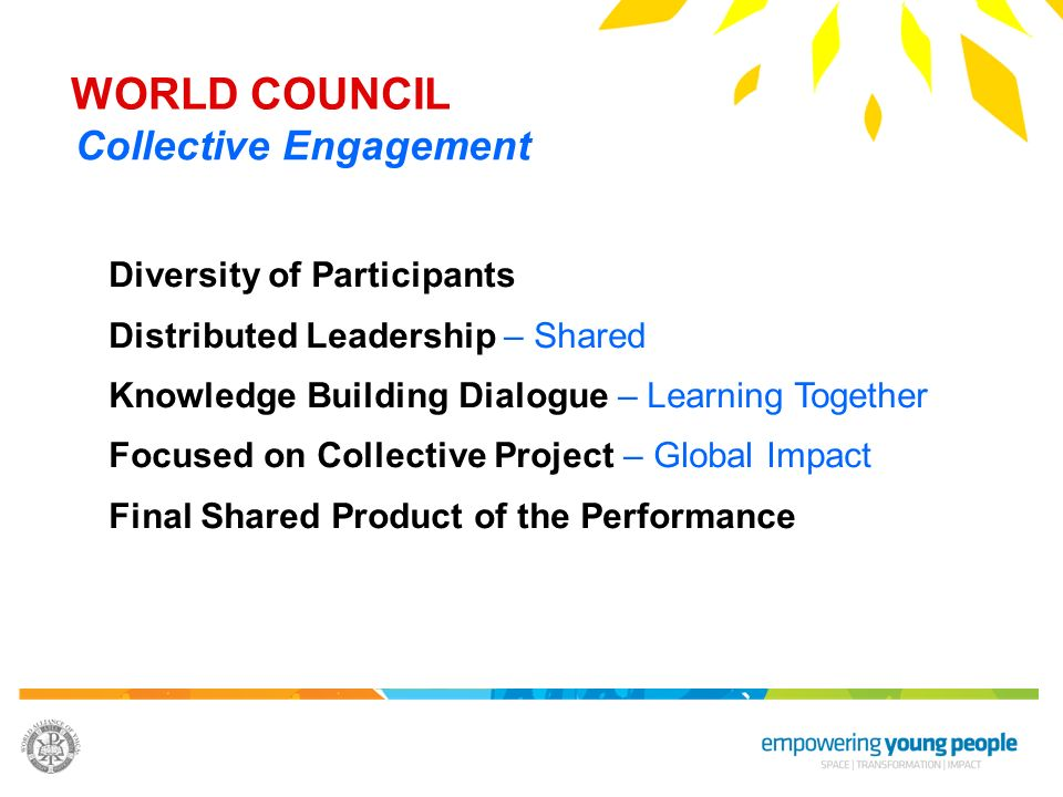 WORLD COUNCIL Collective Engagement Diversity of Participants