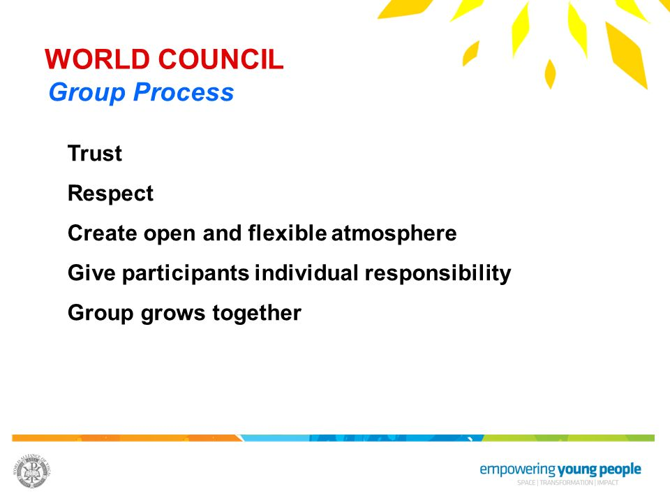 WORLD COUNCIL Group Process