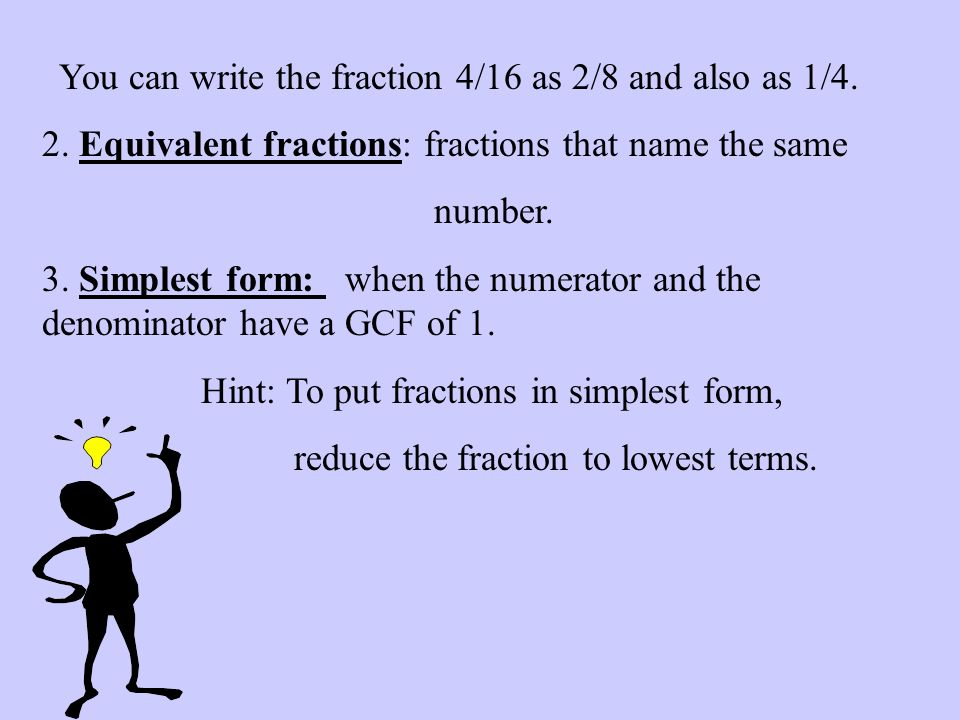 Simplifying Fractions and Ratios - ppt video online download