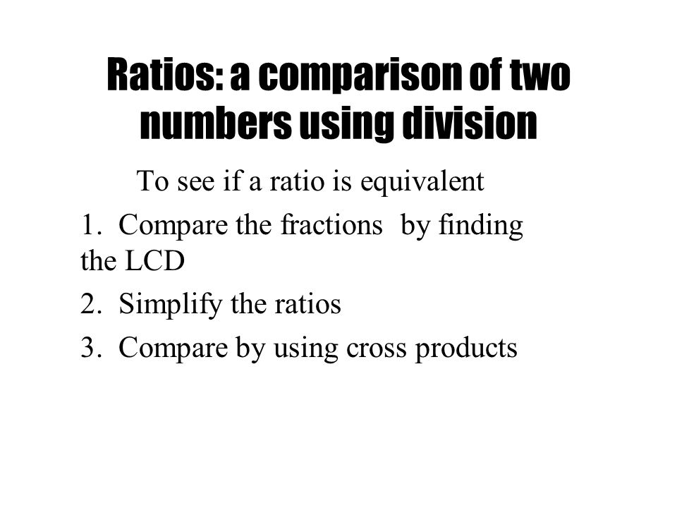 how to change to same ratios