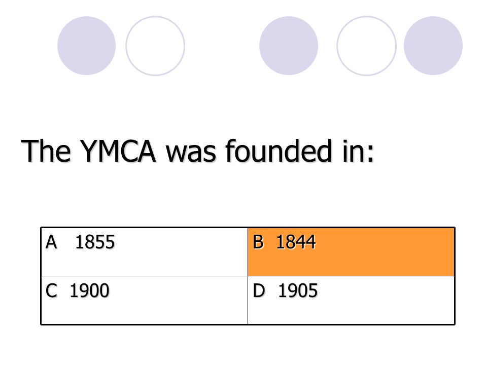 The YMCA was founded in: